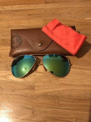 Ray Ban - Pilotenbrille - verspiegelt blau/ grün