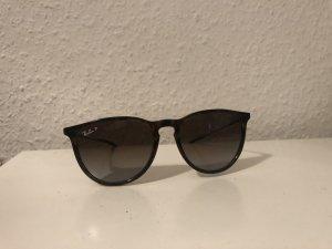 Ray Ban Angular Shaped Sunglasses black-dark brown