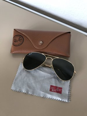 Ray Ban Aviator Glasses gold-colored-dark green
