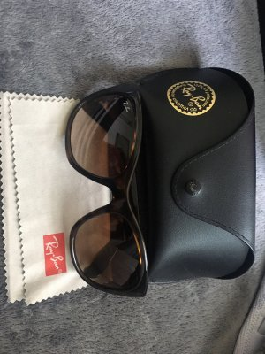 Ray Ban Oval Sunglasses dark brown-brown