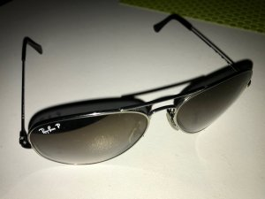 Ray-Ban RB8041 Aviator Titanium 58mm silver/polarized grey