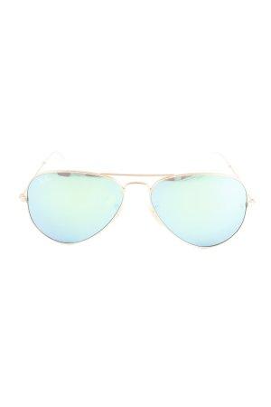 Ray Ban Retro Brille goldfarben-grün extravaganter Stil