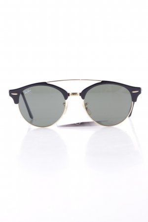 Ray Ban Retro Brille schwarz-goldfarben Casual-Look