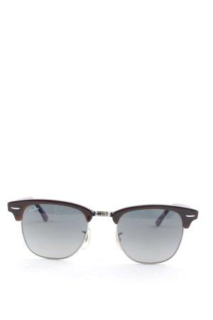 Ray Ban Retro Brille schwarz-lila schlichter Stil