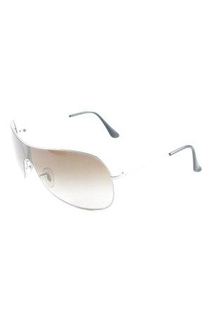 Ray Ban Retro Brille silberfarben 90ies-Stil