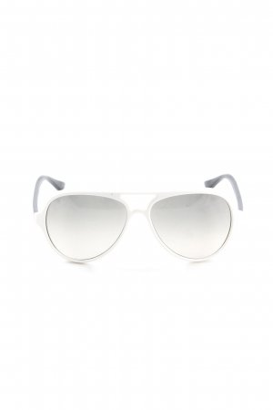 Ray Ban Retro Brille weiß-dunkelbraun Casual-Look