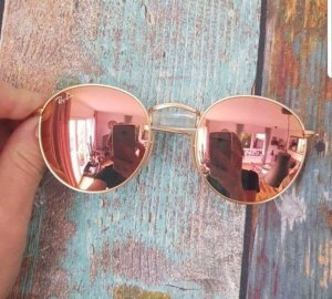 Ray Ban Glasses gold-colored-dusky pink