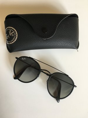 Ray-Ban Round Double Bridge Schwarz - NEU
