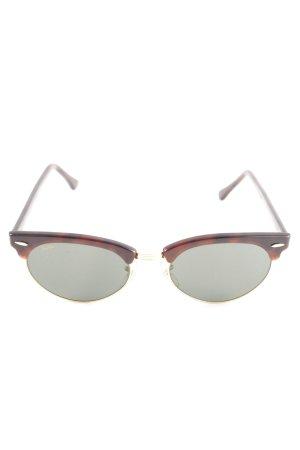 Ray Ban runde Sonnenbrille hellgrau-braun Animalmuster Elegant