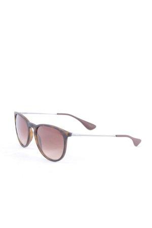 Ray Ban runde Sonnenbrille braun-hellbraun Casual-Look