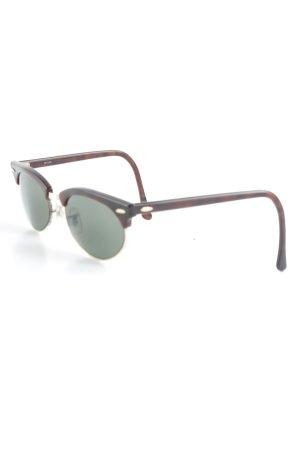Ray Ban Gafas de sol redondas marrón estilo clásico
