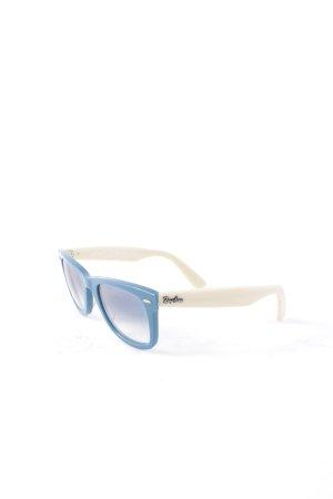 Ray Ban runde Sonnenbrille creme-kornblumenblau Casual-Look