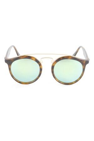 Ray Ban runde Sonnenbrille dunkelbraun-grün Street-Fashion-Look