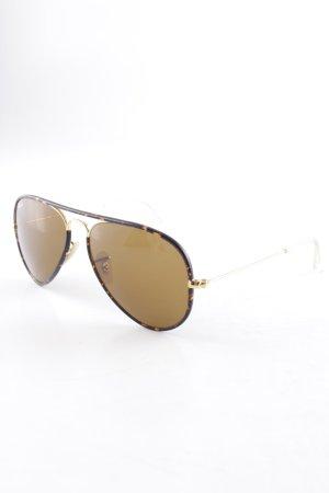 Ray Ban runde Sonnenbrille dunkelbraun-hellbraun Farbverlauf Casual-Look
