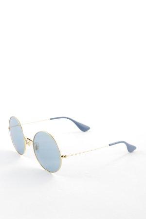 Ray Ban runde Sonnenbrille goldfarben-himmelblau Retro-Look