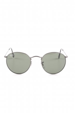 Ray Ban runde Sonnenbrille grau-dunkelgrün klassischer Stil