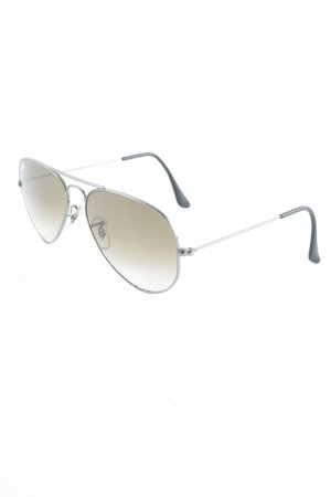 Ray Ban runde Sonnenbrille graubraun Casual-Look