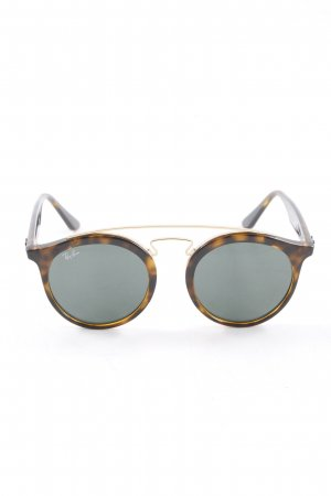 Ray Ban runde Sonnenbrille meliert Casual-Look