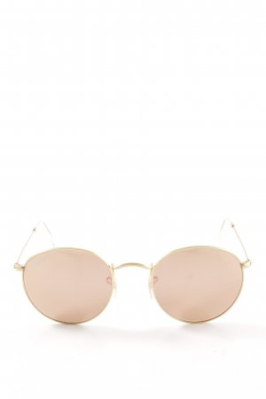 Ray Ban runde Sonnenbrille roségoldfarben Retro-Look