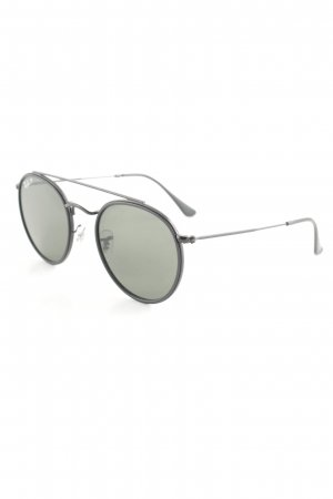 Ray Ban runde Sonnenbrille schwarz 80ies-Stil