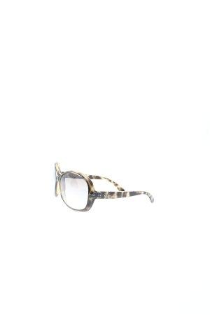 Ray Ban runde Sonnenbrille schwarz-braun Leomuster Casual-Look