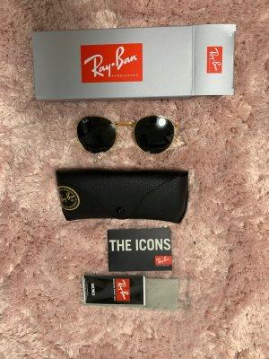 Ray ban runde Sonnenbrille schwarz Gold