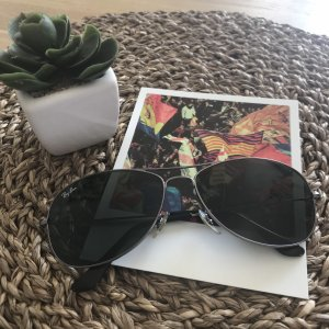 """Ray Ban Sonnebrille """"Cockpit"""" in silber"""