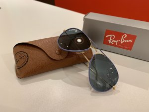 Ray Ban Panto Glasses azure-gold-colored