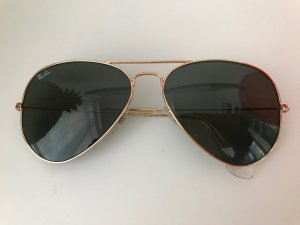 Ray Ban Glasses gold-colored-green grey metal