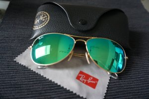 Ray Ban Glasses green-gold-colored stainless steel