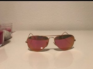 Ray Ban Pilotenbril goud-roze