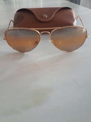 Ray Ban Round Sunglasses gold-colored