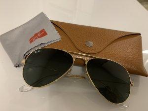 Ray Ban Sonnenbrille, Aviator, Gold, Grün, schwarz
