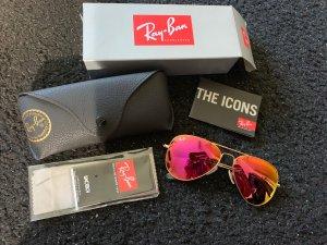 Ray ban Sonnenbrille aviator pink verspiegelt
