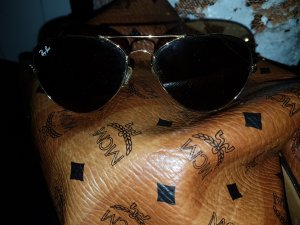 Ray-Ban / Sonnenbrille Aviator / Ray Ban Gold Braun - hoher NP