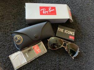 Ray ban Sonnenbrille aviator schwarz Gold