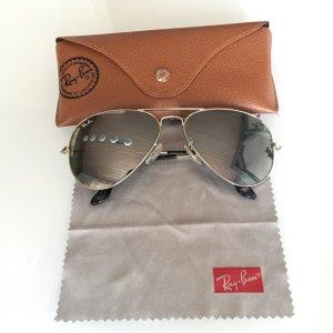 Ray Ban Sonnenbrille Aviator Verspiegelt Silber