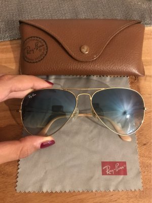 Ray Ban Aviator Glasses azure-gold-colored