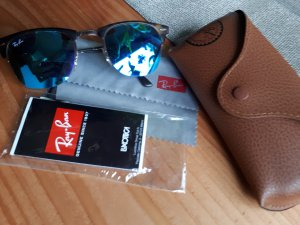 Ray Ban Sonnenbrille Blau verspiegelt