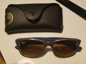 Ray Ban Sonnenbrille, braun/blau, wie neu