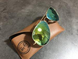 Ray Ban Glasses camel-green