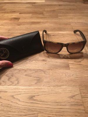 Ray Ban Occhiale da sole spigoloso marrone scuro-marrone chiaro