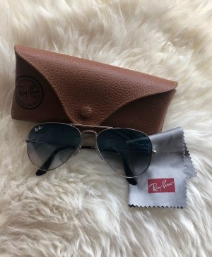 Ray Ban Aviator Glasses silver-colored-slate-gray