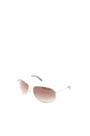 Ray Ban Sonnenbrille dunkelbraun-goldfarben klassischer Stil