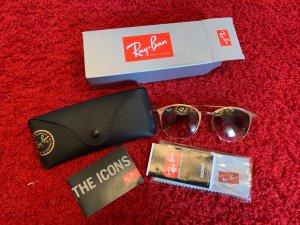 Ray Ban Retro Glasses gold-colored-brown glas