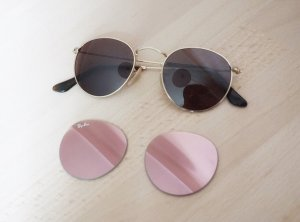 Ray Ban Sonnenbrille gold braun rosa pink