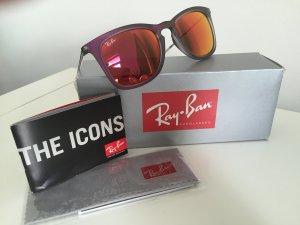 Ray Ban Sonnenbrille Model 4221 Rot verspiegelt