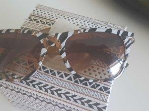 Ray Ban Sonnenbrille Neu Rar Kussmund gold Zebra ♡