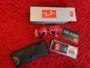 Ray ban Sonnenbrille pink aviator