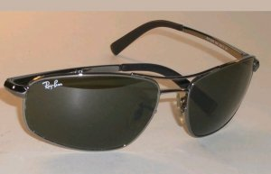 Ray Ban Sonnenbrille RB3360, Gunmetal Polar black